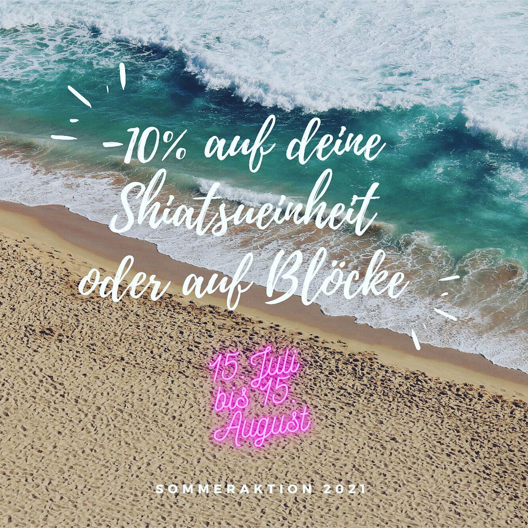 Sommeraktion -10% auf deine Shiatsueinheit oder Blöcke